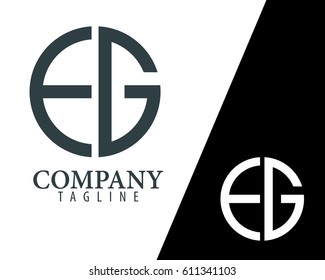 Initial Letter EG FG With Linked Circle Logo