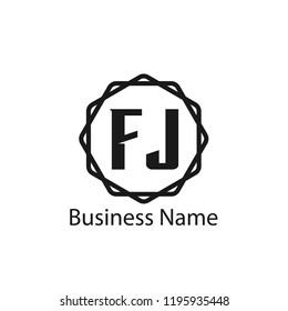 Initial Letter FJ Logo Template Design