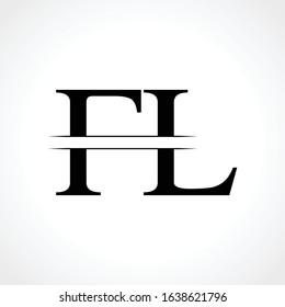 Initial Letter FL Logo Design Vector Template. Creative Linked Modern FL Logo Vector