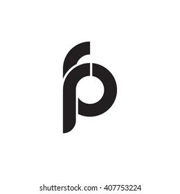 initial letter fp linked circle lowercase monogram logo black