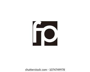 Initial letter fp lowercase logo black and white