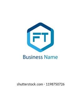Initial Letter FT Logo Template Design