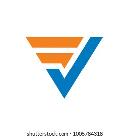 Initial Letter FV or VF Logo. Clean and simple logo template. Features: EPS vector file format.