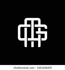 Initial letter G and M, GM, MG, overlapping interlock monogram logo, white color on black background