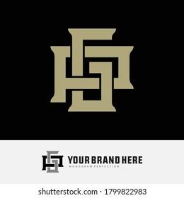 Initial letter G, P, GP or PG overlapping, interlock, monogram logo, cream color on black background