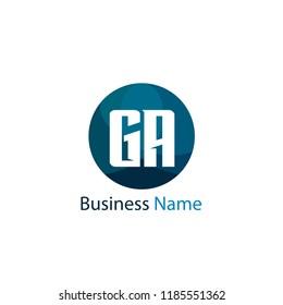 Initial Letter GA Logo Template Design