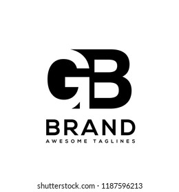 initial letter gb logo vector concept