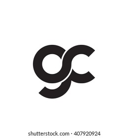 initial letter gc linked circle lowercase monogram logo black