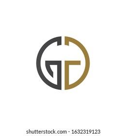 Initial letter gd or dg logo vector design template