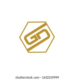 initial letter gd or dg logo vector design