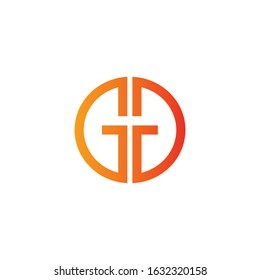 Initial letter gd or dg logo design template