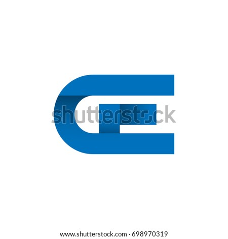 Initial Letter Ge Logo Design Concept Stock Vector Royalty Free