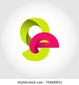 Initial Letter EG GE Rounded Lowercase Logo. Logo template.