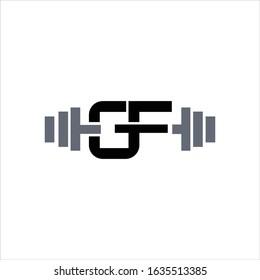 initial letter gf or fg logo vector design