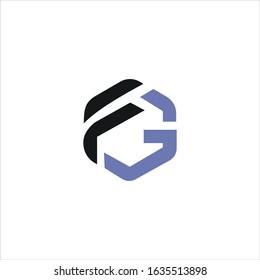 initial letter gf or fg logo vector designs