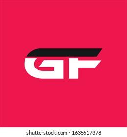 Initial letter gf or fg logo vector design templates