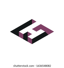 Initial letter gh or hg logo vector design templates