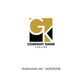 Initial Letter GK Logo Template Design