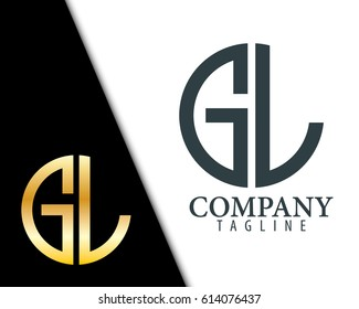 Initial Letter GL With Linked Circle Logo