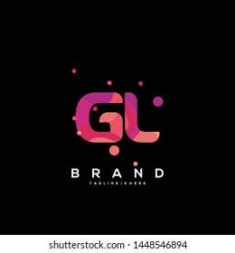 Initial letter GL logo with colorful background, letter combination logo design for creative industry, web, business and company. - Vector