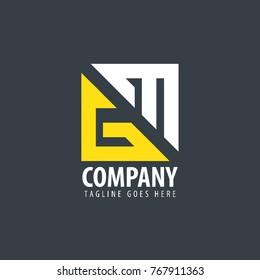 Initial Letter GM Design Logo