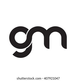 initial letter gm linked circle lowercase monogram logo black