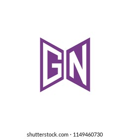 Initial Letter GN Logo Design