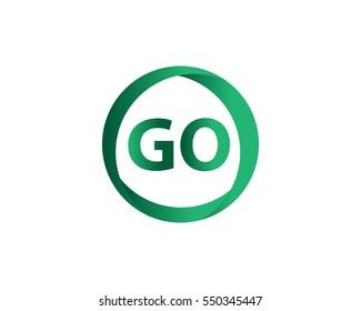 Initial Letter GO logo design
