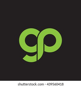 initial letter gp linked round lowercase logo green