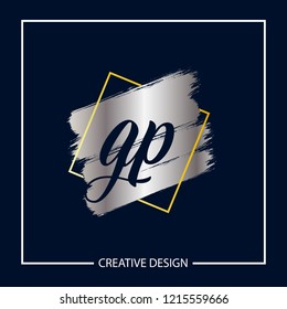 Initial Letter GP Logo Template Design