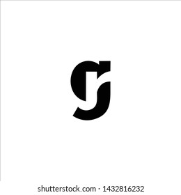 initial letter gr modern linked circle round lowercase logo