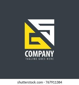 Initial Letter GS Design Logo