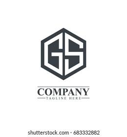 Initial Letter GS Hexagonal Design Logo