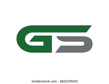 Initial Letter GS Logo or Icon Design Vector Image Template