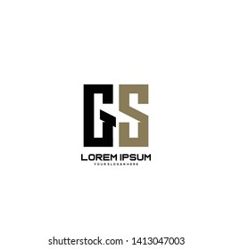 Initial letter GS minimalist art logo vector
