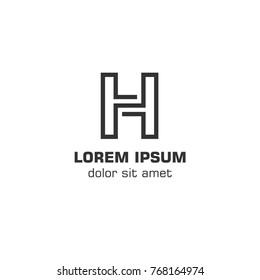Initial letter H logo