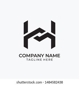 Initial letter H sport gym logo vector design template. with Creative Modern Trendy Typography. vector eps 10 editable