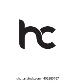 initial letter hc linked circle lowercase monogram logo black