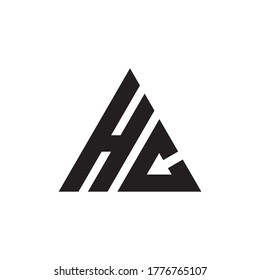 Initial letter HC triangle cool modern logo