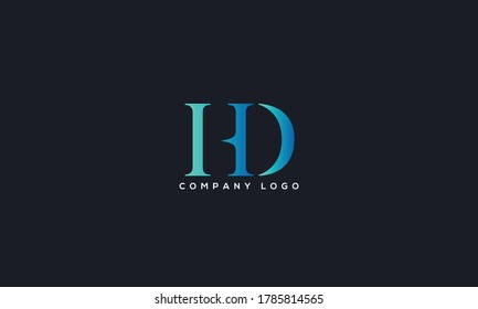 Initial Letter HD or DH Logo Design vector Template. Creative Abstract HD Logo Design Vector Illustration