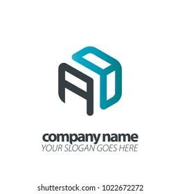 Initial Letter Hexagon Logo