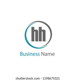 Initial Letter HH Logo Template Design