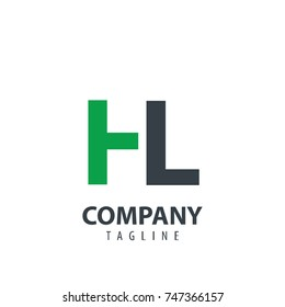 Initial Letter HL Design Logo