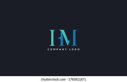 Initial Letter HM or MH Logo Design vector Template. Creative Abstract HM Logo Design Vector Illustration