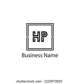 Initial Letter HP Logo Template Design