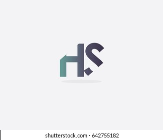 Initial Letter HS logo design