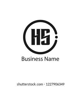 Initial Letter HS Logo Template Design