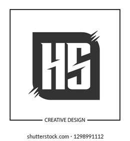 Initial Letter HS Logo Template Vector Design