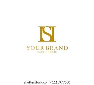 Initial Letter HS Luxury Logo Ideal for Fashion Beauty Brand