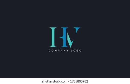 Initial Letter HV or VH Logo Design vector Template. Creative Abstract HV Logo Design Vector Illustration